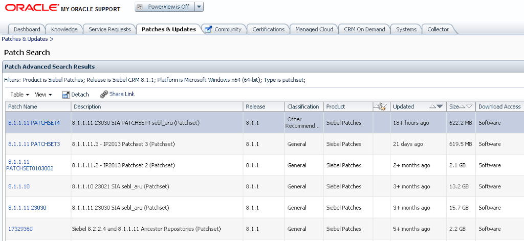 Oracle security patches 10g to oz